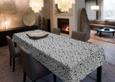 Joy@home Tafellaken - Tafelkleed - Tafelzeil - Stones Zwart/Grijs/Wit