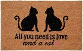 Deurmat All you need is love - Kat