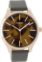 OOZOO Timepieces C9504 Rosé Olifantgrijs BruinZwart 42mm