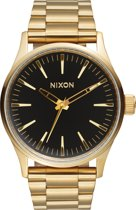 Nixon A4501604 Sentry 38 SS gold / black sunray - Horloge - 38mm - Goud