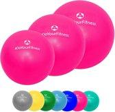#DoYourFitness - 3x Mini Pilates Bal  - »Balle« - Gymnastiekbal: Effectieve training voor spierspijn - 18cm / 23cm / 28cm - roze