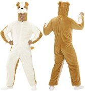 Hond & Dalmatier Kostuum   Dieren Onesie Pluche Bulldog Kostuum   Medium   Carnaval kostuum   Verkleedkleding