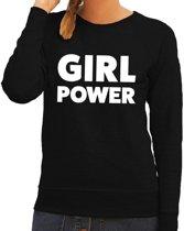 Girl Power tekst sweater zwart voor dames S