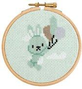 Borduurpakket met ring Little Woodland Adventures  Benny Bunny (13)