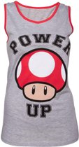 Nintendo - Size XL - Mushroom Girl Tank Top (Grijs/Rood)