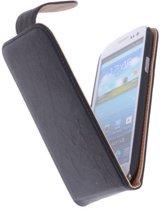 Polar Echt Lederen Zwart Samsung Galaxy S3 Flipcase Hoesje - Cover Flip Case Hoes