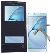 Teleplus Samsung Galaxy A810 2016 Dual Case Black + Glass Screen Protector hoesje