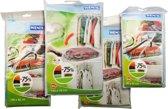WENKO set van 5 vacuüm kledingzakken in vier verschillende maten | TRANSPARANT