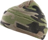 Commando muts camouflage groen-