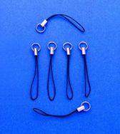 String & Hanger - Zwart - 30 Stuks - Leuke Telefoonkoordjes