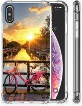 iPhone X | Xs Uniek TPU Hoesje Amsterdamse Grachten