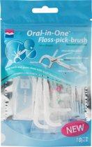 Floss-Pick-Brush | Oral-in-One | zakje 10 stuks