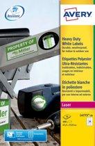 Avery White Heavy Duty Labels - Laser - L4773