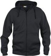 Clique Basic hoody full zip Zwart maat M