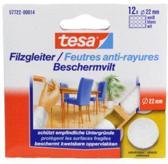 Tesa 57893 Beschermvilt dia 22mm wit 12 stuks
