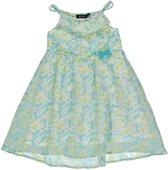 Blue Seven meisjeskleding - Blauwe jurk met vlinderprint - Maat 128