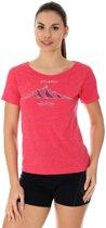 Brubeck | Outdoor Wool Dames T-Shirt met Merino wol en Tencel®- Raspberry - Maat XL