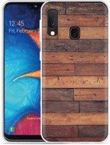 Galaxy A20e Hoesje Houten planken