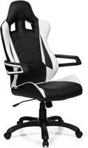 hjh office Racer Pro I PU - Bureaustoel - Leder - Zwart / wit