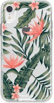 Iphone XR - TPU Soft Case - Back Cover telefoonhoesje - Tropical Flowers