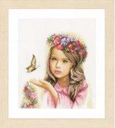 borduurpakket PN0164072 engeltje met vlinder