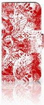 Samsung Galaxy S7 Boekhoesje Design Angel Skull Red