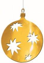 Kerstbal hangdecoratie goud 30 cm