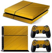 PS4 Console Skin | Goud Chrome | +2 Controller Stickers voor Playstation 4