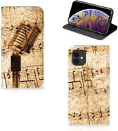 Stand Case Apple iPhone 11 Bladmuziek