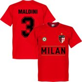 AC Milan Maldini Team T-Shirt - Rood - XXXXL