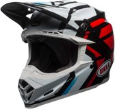 Bell Crosshelm Moto9 MIPS® Gloss White/Black/Red District-XS