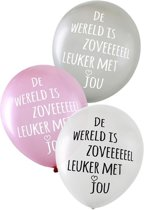6x Valentijn ballonen de wereld is zoveel leuker met jou