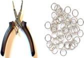 Hobby tang voor Split ringen 12.5 centimeter + 50 Split ringen