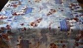PVC Tafellaken - Tafelkleed - Tafelzeil - Kerstmis - Feestdagen - Opgerold op koker - Geen plooien - Duurzaam - 140 cm x 250 cm - Sneeuwman