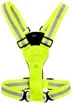 Reflecterend veiligheidsvest - Met ledverlichting - Reflectie Led Vest - Neon Yellow - One Size