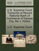 U.S. Supreme Court Transcript of Record National Bank of Commerce of Kansas City, Mo V. Hobbs