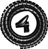 KOPP kabelgeleider, Ø 20mm x 2.5 meter, zwart | geen losse kabels meer!!