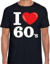 I love 60s t-shirt zwart heren -  i love sixties shirt heren 2XL