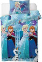 Frozen dekbed - 1 persoons - dekbedovertrek met Anna, Elsa en Olaf