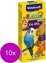 Vitakraft Parkiet Kracker Honing/Fruit/Ei 3 in 1 - 10 stuks
