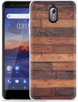 Nokia 3.1 Hoesje Houten planken