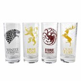Game of Thrones Houses Sigils Set of 4 Glasses 300ml