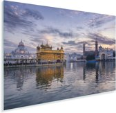 Mooie wolken boven de Gouden Tempel Plexiglas 180x120 cm - Foto print op Glas (Plexiglas wanddecoratie) XXL / Groot formaat!