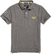 Superdry Classic Pique Polo T-shirt Heren Sportpolo casual - Maat L  - Mannen - grijs
