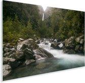 Rivier in het Nationaal park Arthur's Pass op het Zuidereiland Plexiglas 60x40 cm - Foto print op Glas (Plexiglas wanddecoratie)