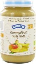 Biobim Gemengd fruit 6 maanden Demeter 200 gram