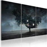 Schilderij - Apocalyps - 3 luik , zwart grijs