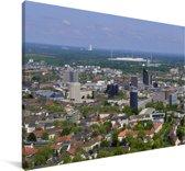 Uitzicht over de Duitse stad Dortmund Canvas 180x120 cm - Foto print op Canvas schilderij (Wanddecoratie woonkamer / slaapkamer) / Europese steden Canvas Schilderijen XXL / Groot formaat!