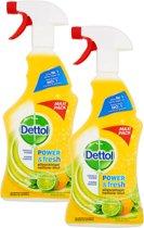 Dettol Allesreiniger Spray Citroen & Limoen - Maxi Pack - 2 x 750 ml