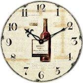AMS Klok met leuke design 'wijnfles' WT 1012